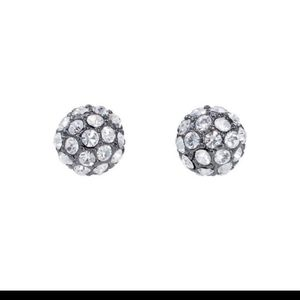Stella and Dot crystal pave soiree stud earrings